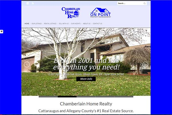 Chamberlain Home Realty website